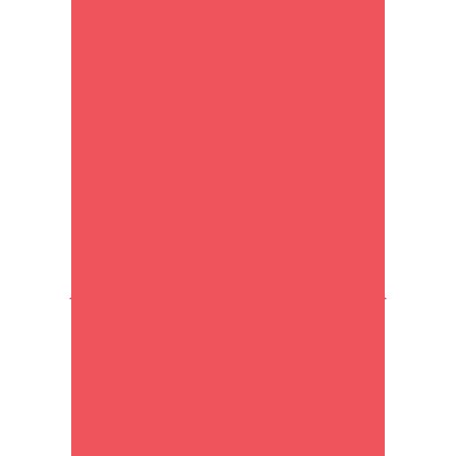 flèche bas rouge